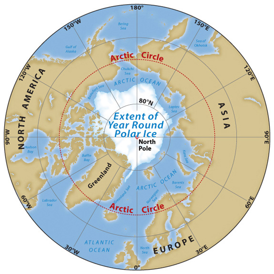 Arctic A Friend Acting Strangely - Map of arctic circle
